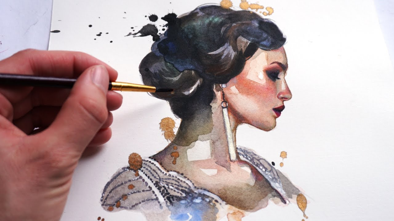 An Easy Guide to Watercolor Portrait Painting